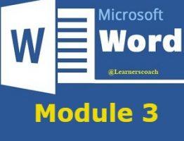 Microsoft word Module 3