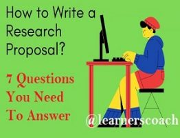Research Proposal Seven Questions
